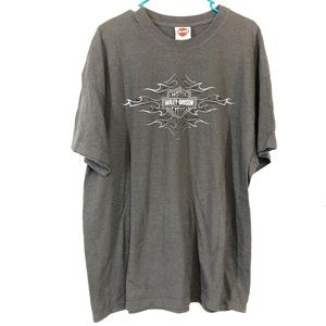 HARLEY DAVIDSON Graphic Gray T Shirt ~sz XXL 2XL